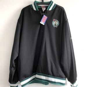 REEBOK BOSTON CELTICS Half Zip Warm Up Jacket